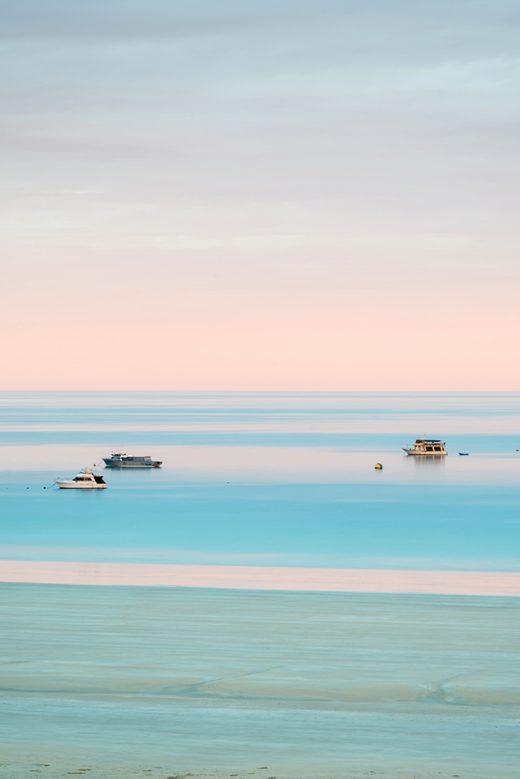 Gantheaume Beach Boats