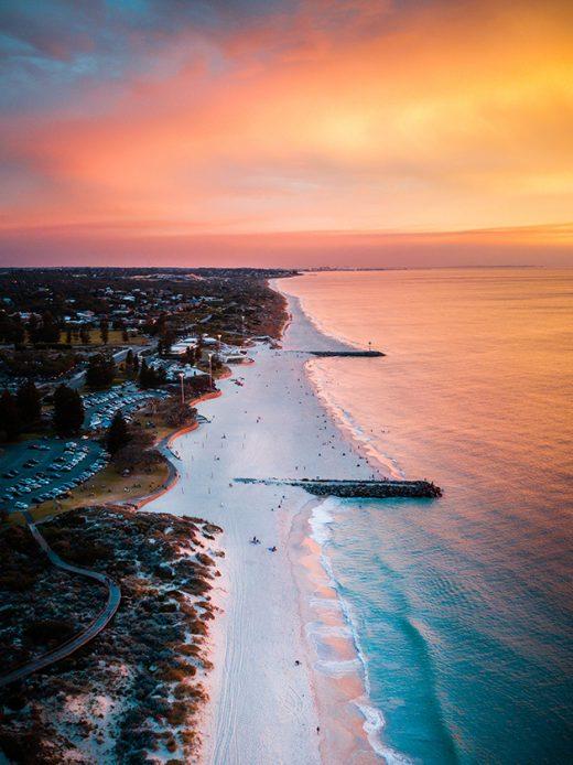 City Beach Sunset Perth Western Australia