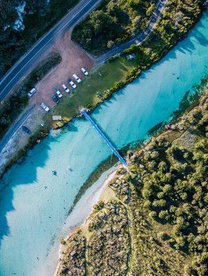 Harding River Channel, Denmark, Western Australia, Drone