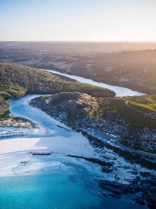 Margaret River Mouth, Main Break, Western Australia, Drone, From Miles Away