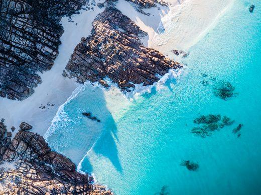 Wyadup Rocks, Yallingup, Western Australia, Drone, From Miles Away