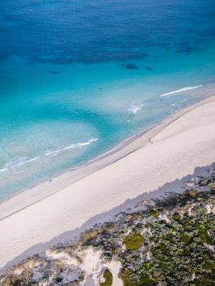 Breeze Cove, Margaret River, Western Australia, Drone, From Miles Away