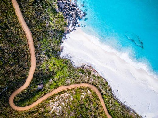 Shelly Beach, Albany, Western Australia, Drone, From Miles Away