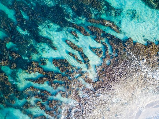 Swanbourne Reef, Perth, Western Australia, Drone, From Miles Away