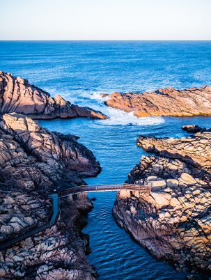 Canal Rocks, Yallingup, Western Australia, Drone, From Miles Away