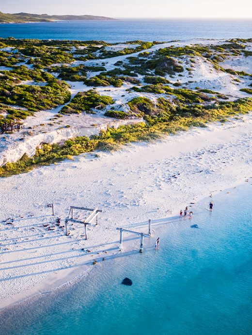 Hamelin Bay Stingrays, Western Australia, Drone, From Miles Away