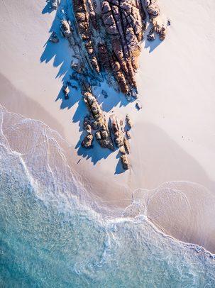 Wyadup Beach, Yallingup, Western Australia, Drone, From Miles Away