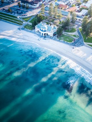 From Miles Away - Cottesloe Beach Sunrise, Perth, Western Australia, Drone