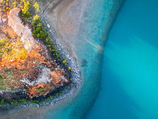 From Miles Away - Coppermine Creek, Buccaneer Archipelago, Kimberley, Western Australia, Drone