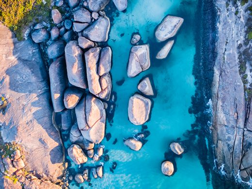 From Miles Away - Elephant Rocks, Denmark, Western Australia, Drone