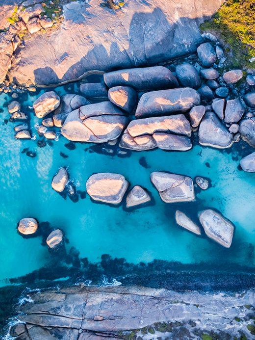 From Miles Away - Elephant Rocks, Denmark, Western Australia, Drone