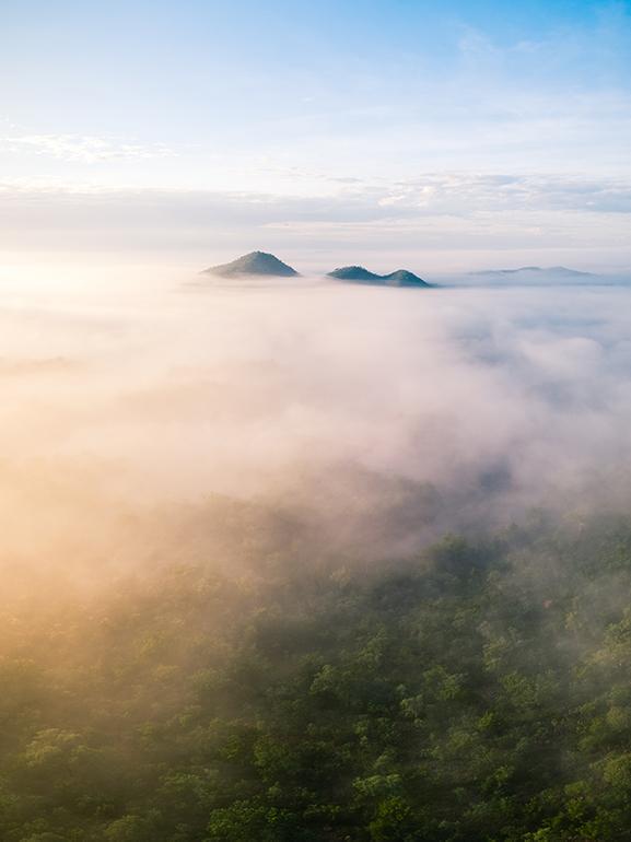 Kununurra sunrise, elephant rock drone, elephant rock print, kununurra fog, kununurra foggy photo, kununurra print,