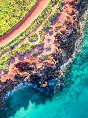 Gantheaume, Broome, Western Australia, Drone, Aerial, Print, From Miles Away