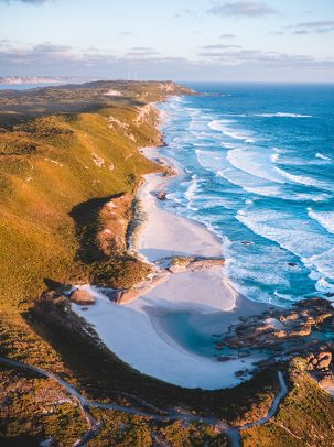 Lights Beach, Denmark, Western Australia, Sunset, Aerial, Drone, DJI, Print, From Miles Away