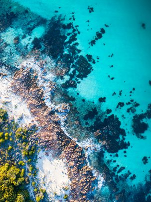 Cape Naturaliste, Dunsborough, Western Australia, Eagle Bay, Drone, Aerial, Print, From Miles Away