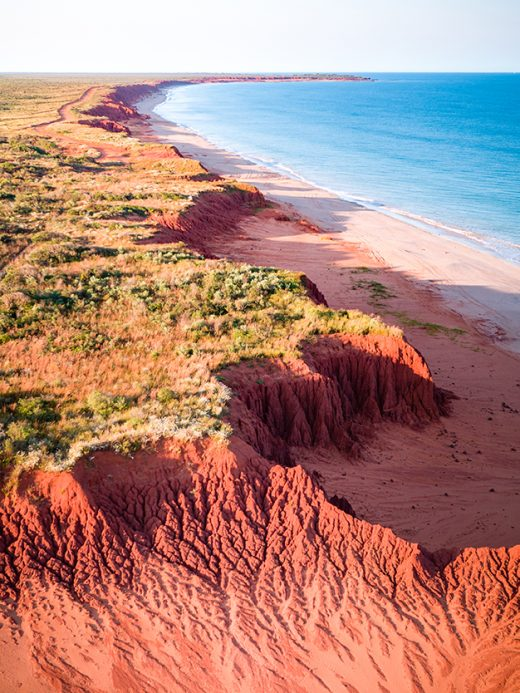 Dampier Peninsula, Western Australia, Broome, James Price Point, Drone, Aerial, Red Cliffs Drone, Print, From Miles Away