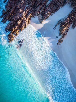 Injidup Bay, Yallingup, Cape Naturaliste, Western Australia, Margaret River, Drone, Aerial, Print, From Miles Away