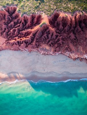 James Prince Point, Broome, Western Australia, Dampier Peninsula, Red Cliffs, Drone, Aerial, Print, From Miles Away, Salty Wings