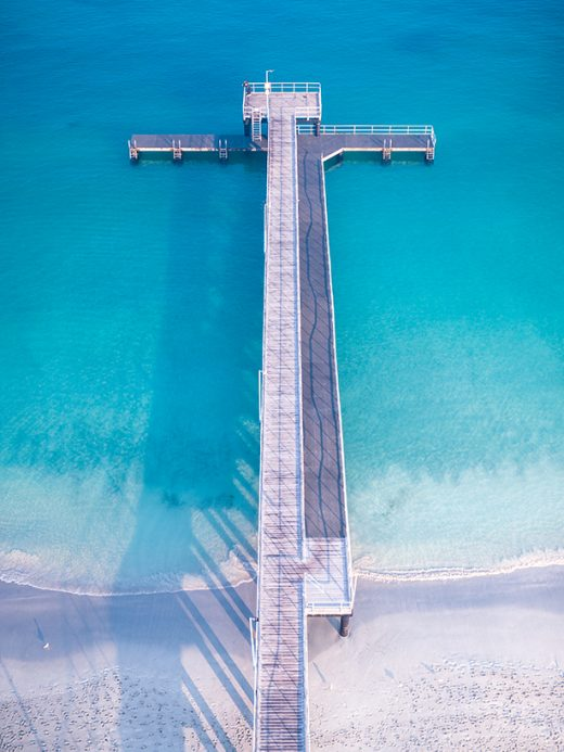Coogee Beach Jetty, Fremantle, Western Australia, Perth, Drone, Salty Wings, From Miles Away, Print, Aerial