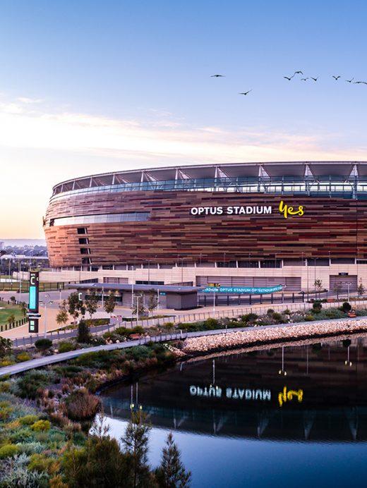 Optus Stadium, Perth, Western Australia, Drone, Sky Perth, From Miles Away, Print, Aerial, Print, Fitzgerald Photo