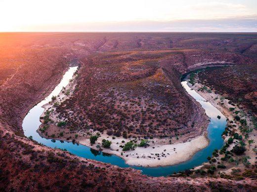Kalbarri Gorge, Western Australia, Drone, From Miles Away, Aerial, Salty Wings