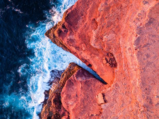 Red Bluff, Kalbarri, Western Australia, Drone, Aerial, Salty Wings, From Miles Away, Print