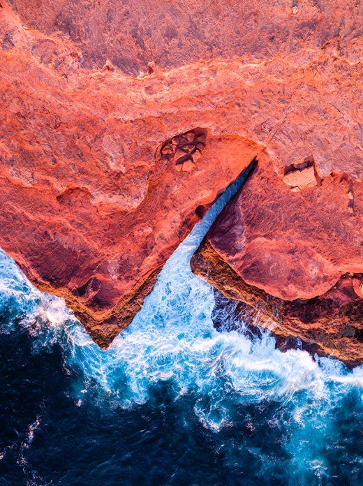 Red Bluff, Kalbarri, Western Australia, Drone, Aerial, Salty Wings, From Miles Away, Print