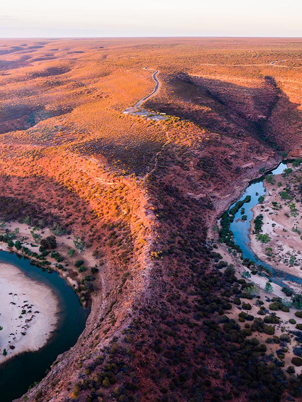 Natures Window Gorge, Kalbarri, Western Australia, Drone, Aerial, Salty Wings, From Miles Away, Print