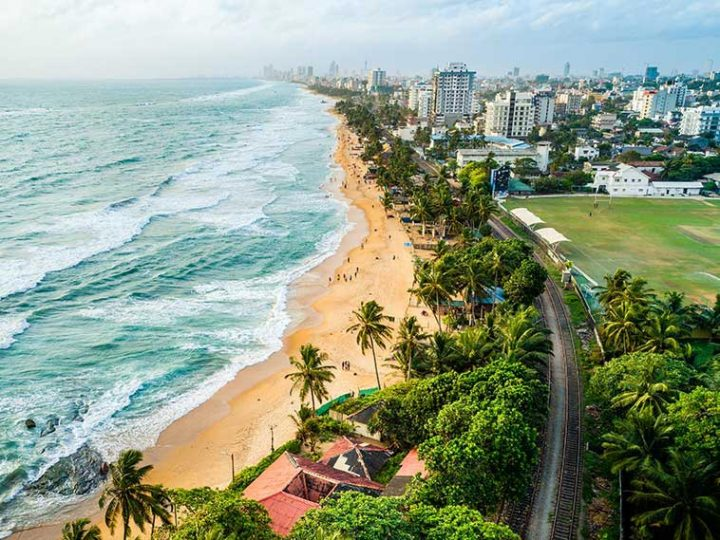 Mount Lavinia Beach in Colombo, Sri Lanka