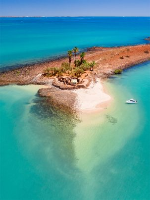 Tidepole Sams Island photograph print taken from a drone in Karratha Western Australia