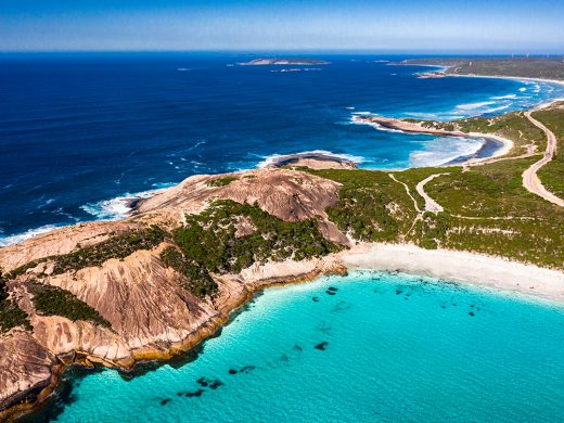 drone photo of blue haven esperance western australia available for print