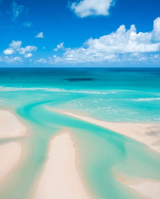 Willie Creek mouth sandbar from a drone